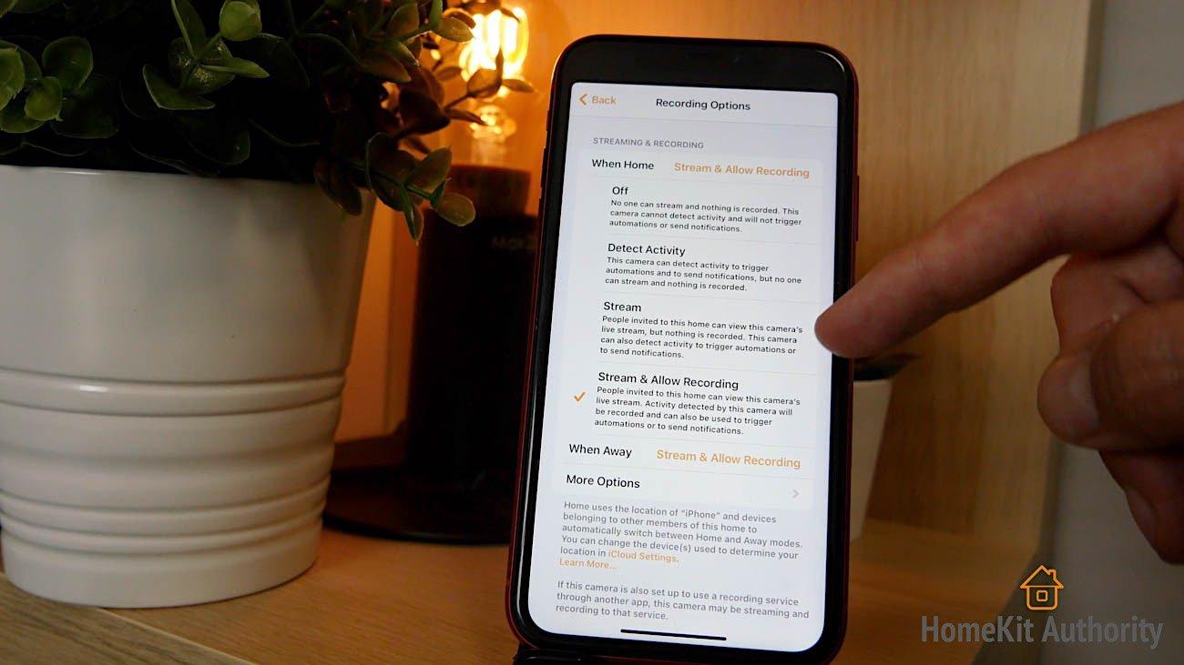 Aqara G2H HomeKit Secure Video settings
